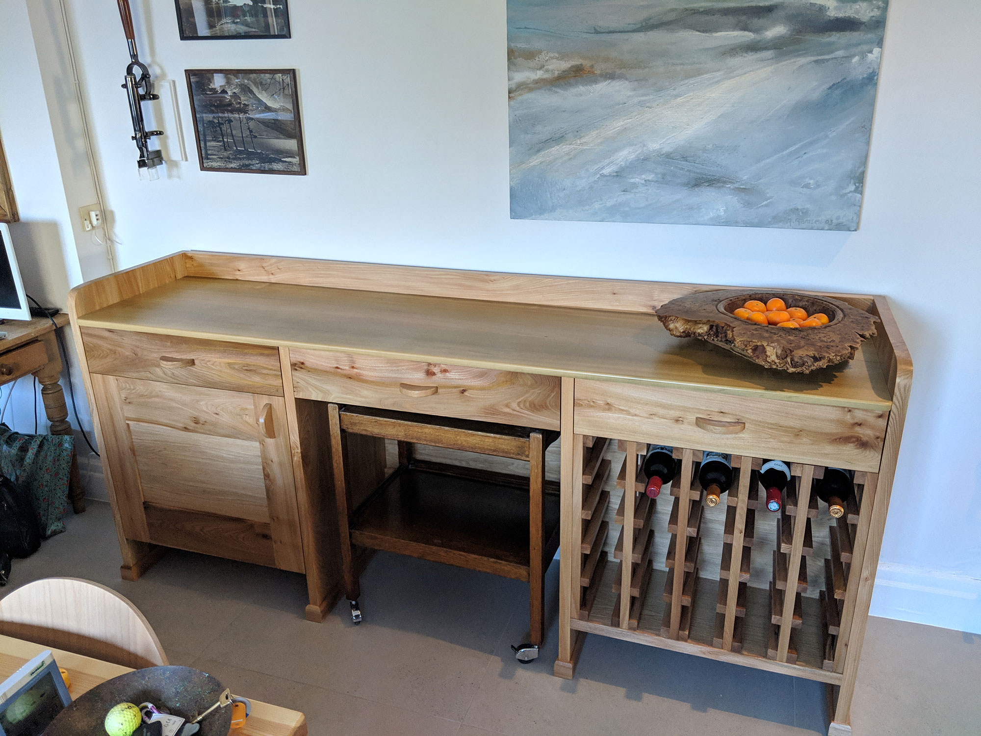 Kitchen dresser made from English Elm
