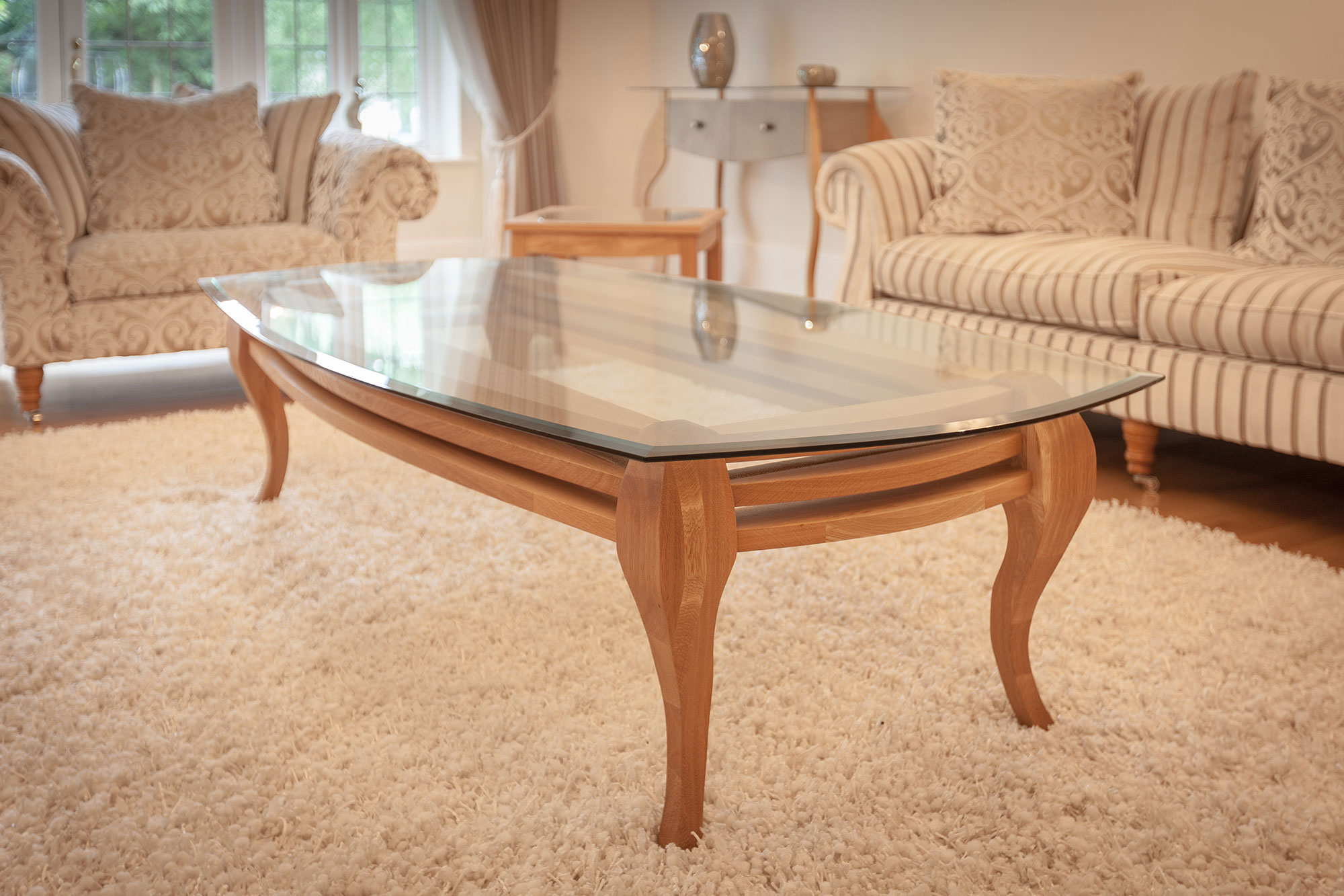 Coffee Table - 'Queen Ann' Leg
