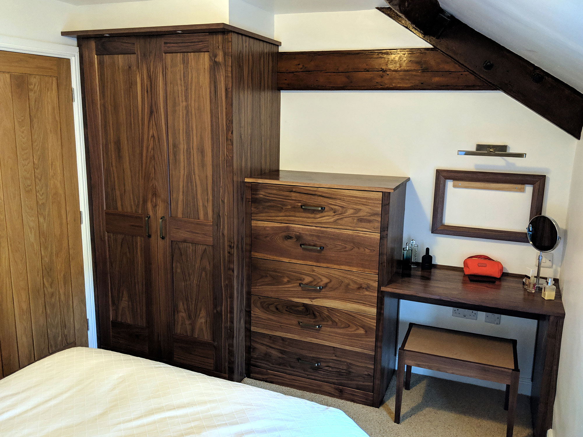 Fitted Walnut Wardrobes