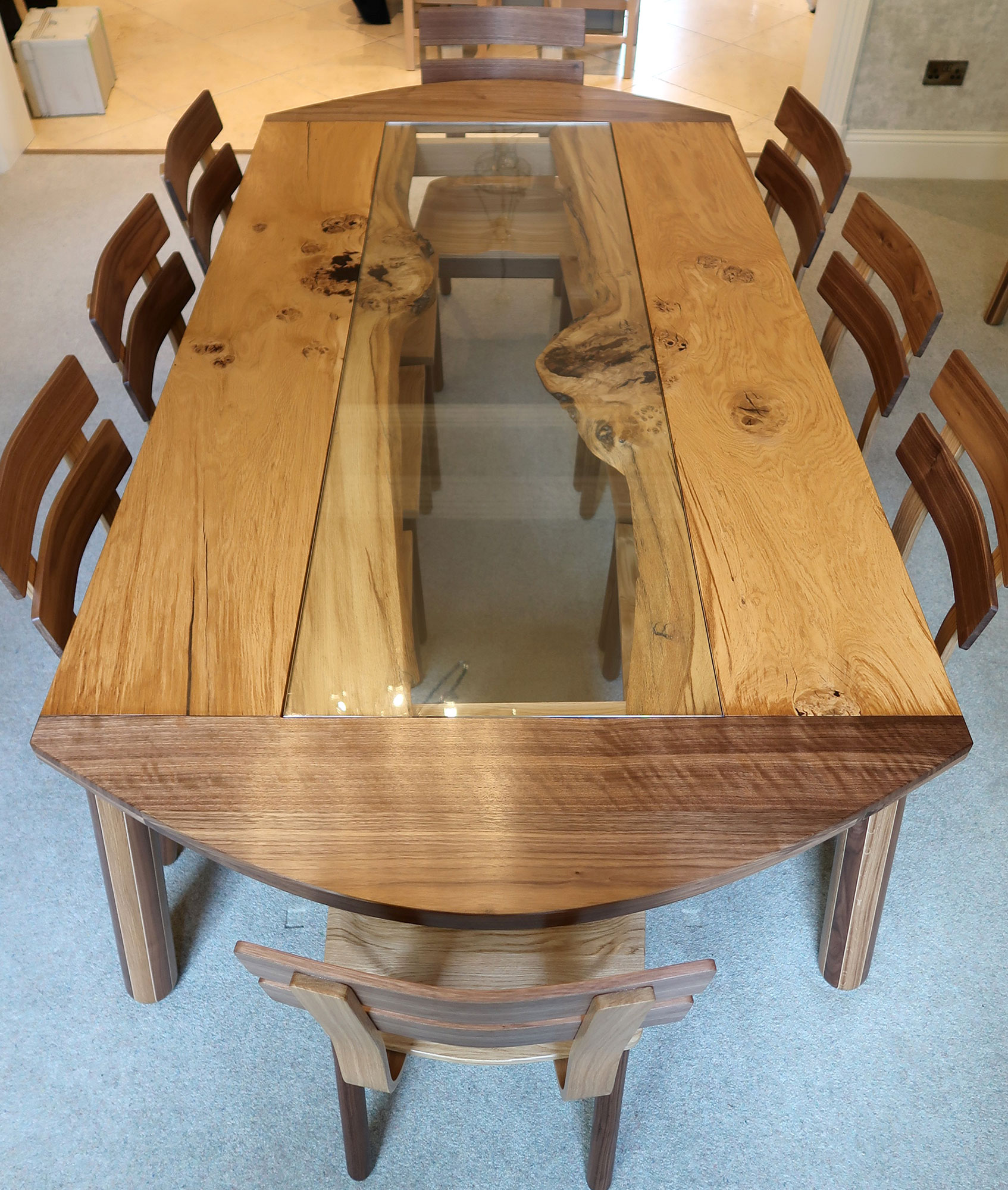 Dining Set - Live Cumbrian Oak
