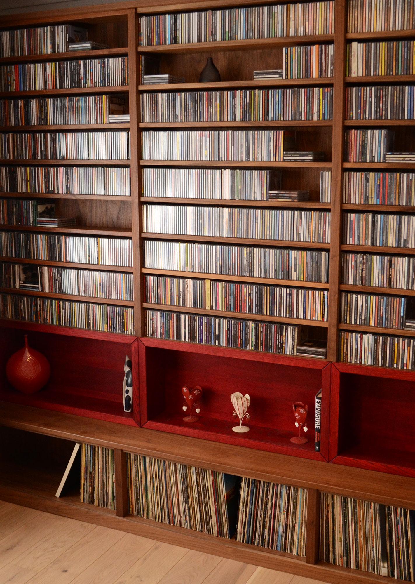 Media Storage Shelves