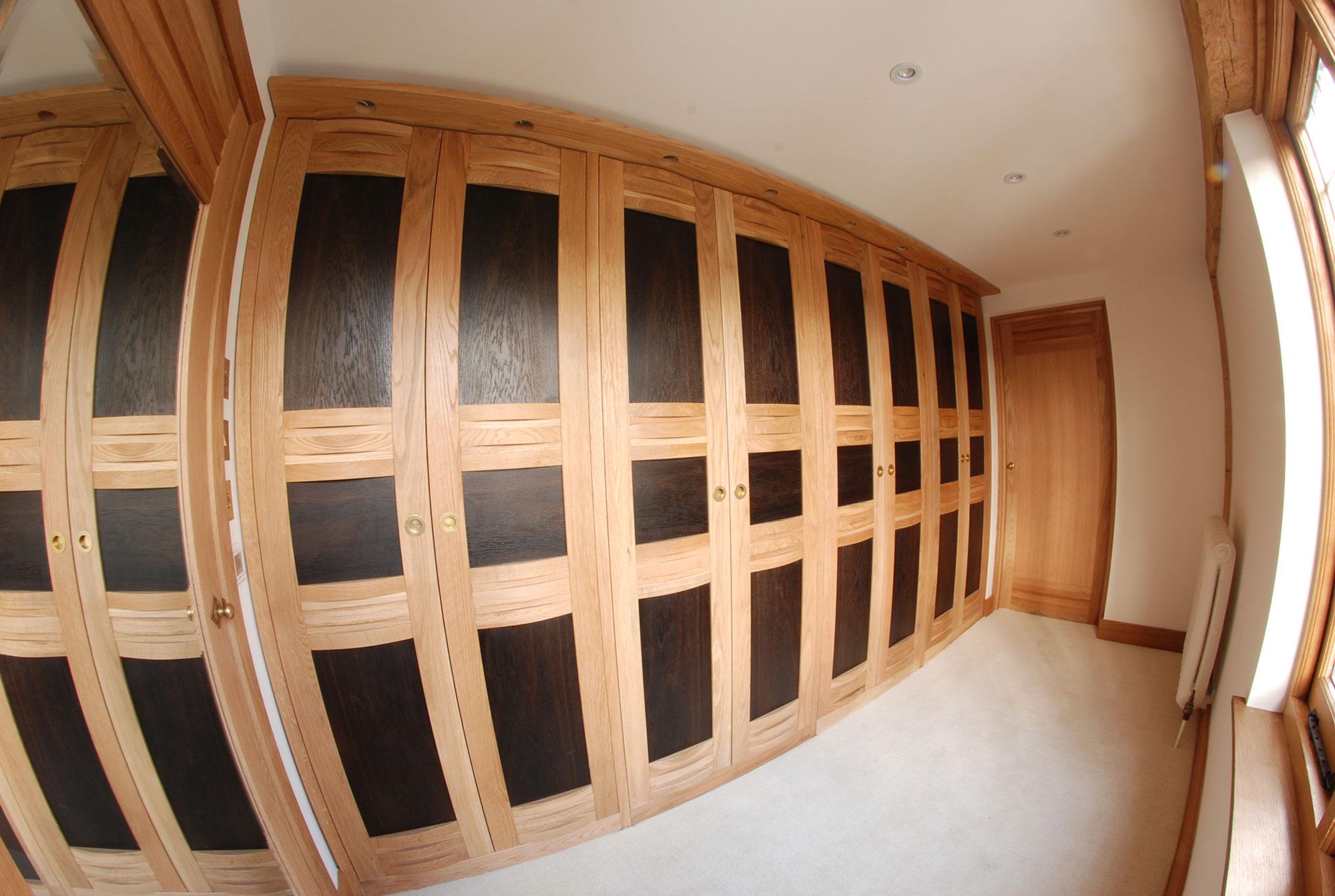 Fitted Wardrobes - 'Fumed Oak'