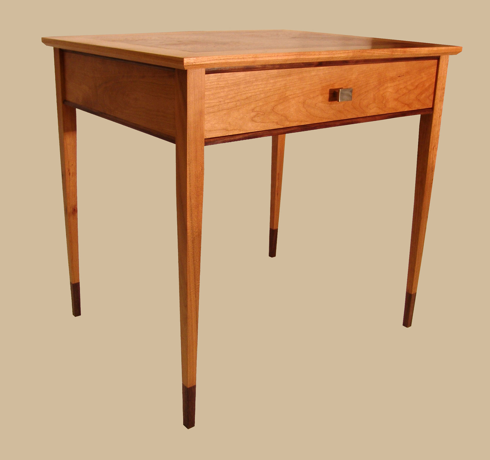 Burr inlay side table