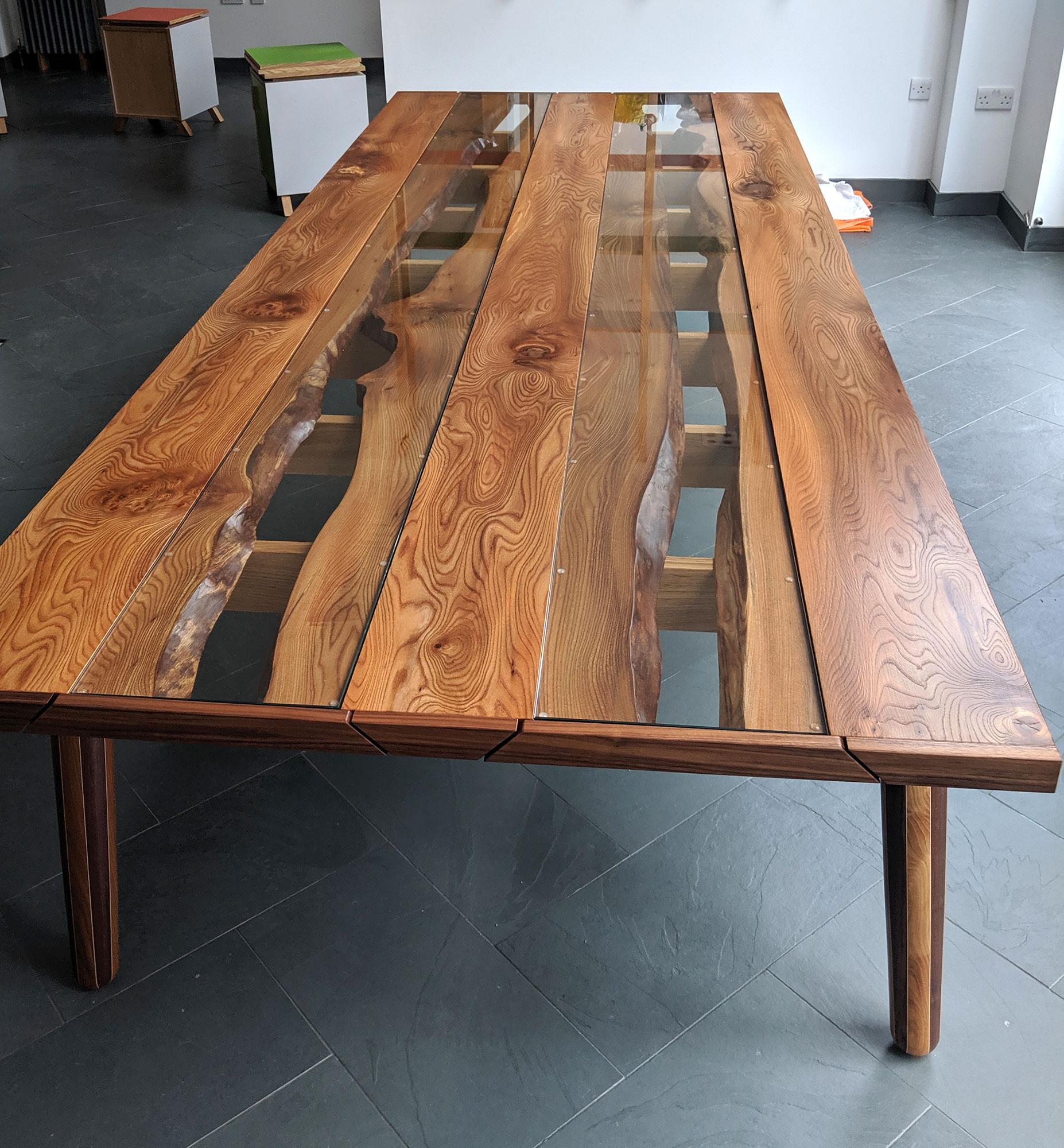 'Live Edge' Elm Table