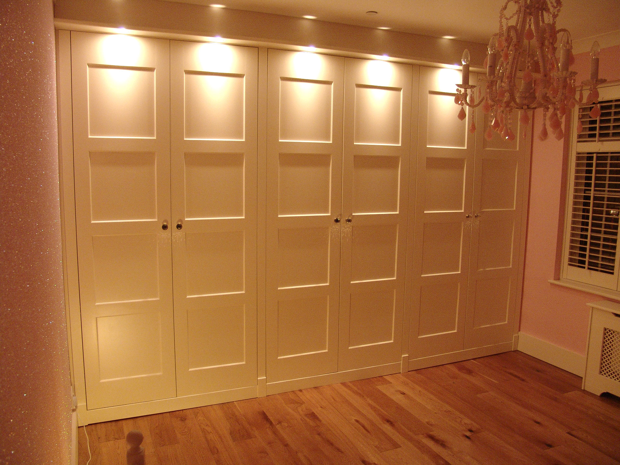 Fitted Wardrobes - Walnut/Paint