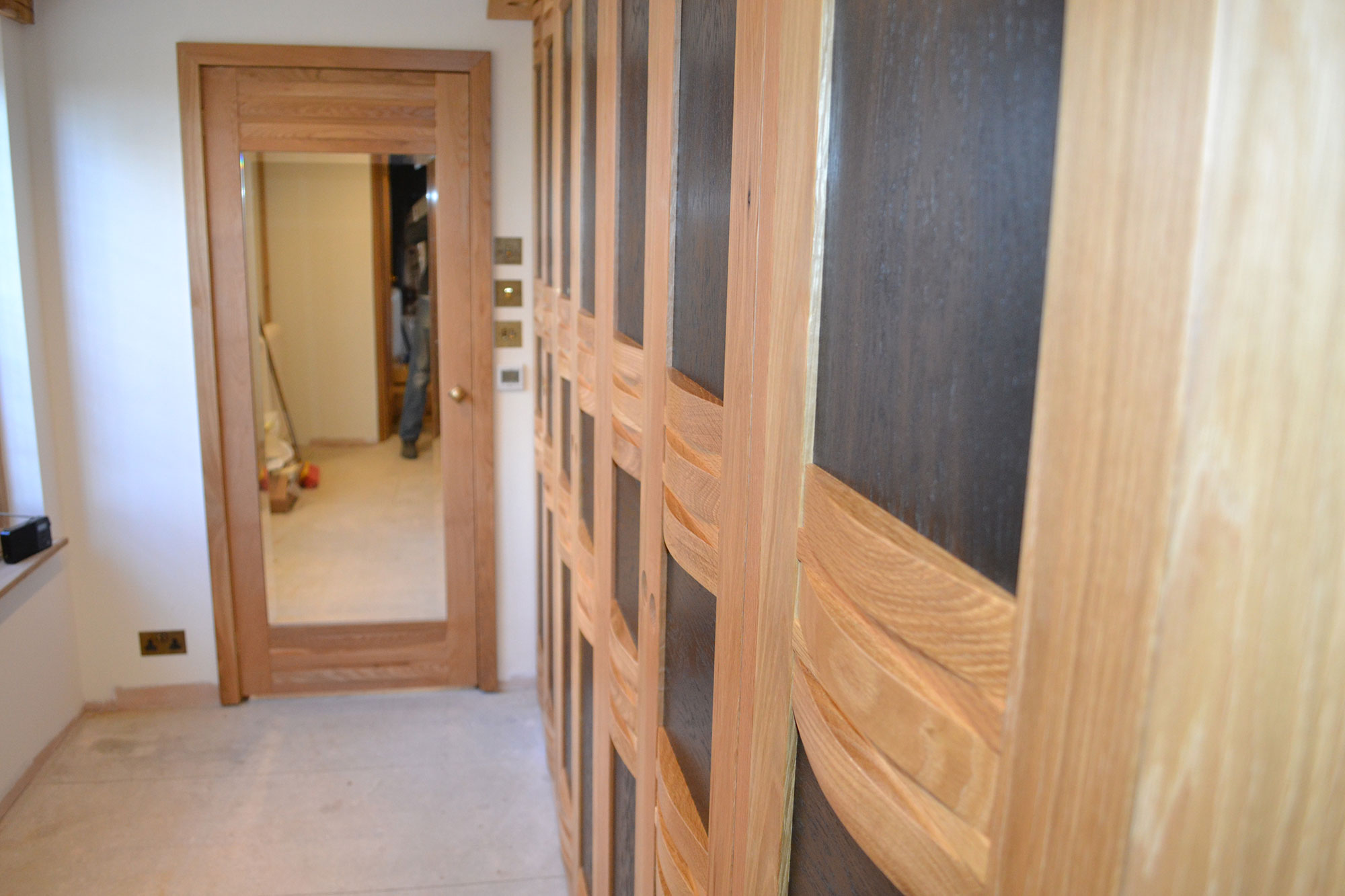 Fitted Wardrobes - 'Fumed Oak'